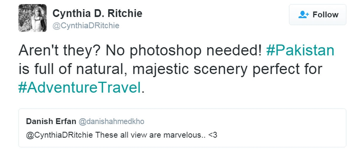 Tweet by Cynthia Ritchie